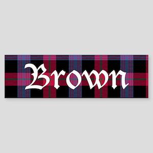 Tartan - Brown Sticker (Bumper)