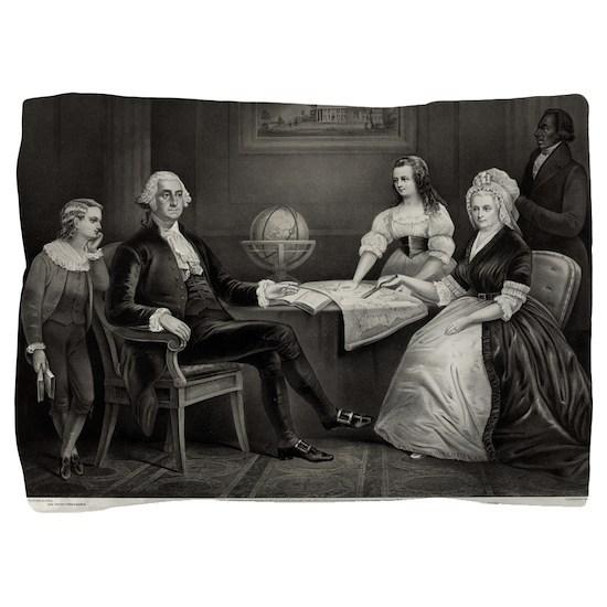 Washington at home - 1867 Pillow Sham