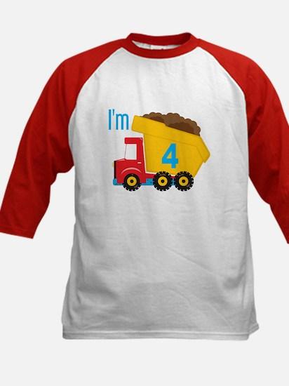 Dump Truck I'm 4 Baseball Jersey