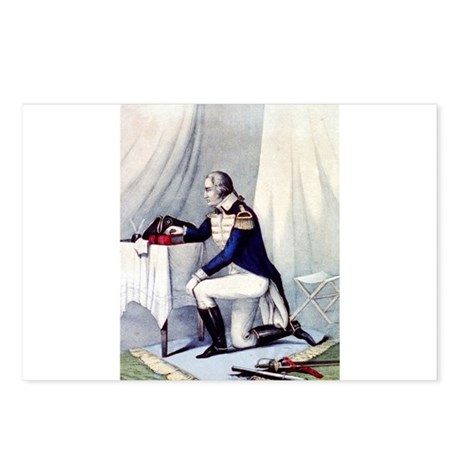 Washington at prayer - 1860 Postcards (Package of