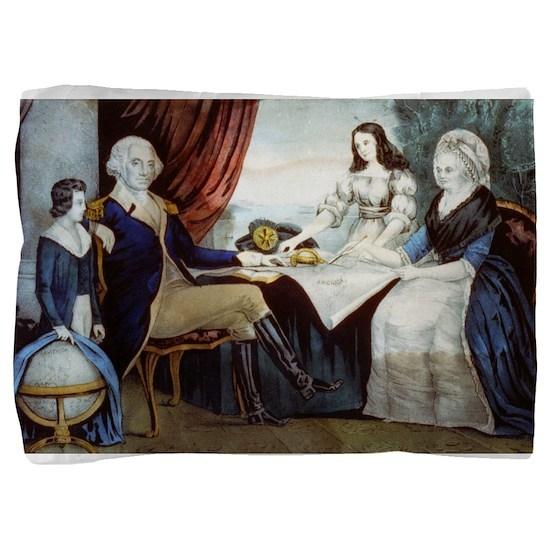 Washington family - 1856 Pillow Sham