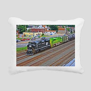 Norfolk Southern Heritag Rectangular Canvas Pillow
