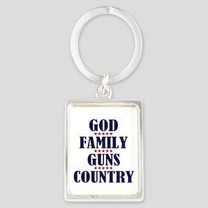Gun Control Portrait Keychain