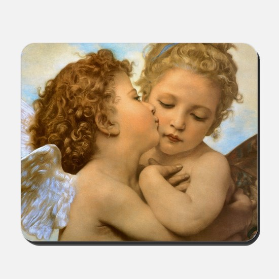 Vintage Victorian Angels, First Kiss by Mousepad