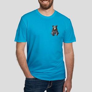 Pocket Black Bear Men's Fitted T-Shirt (dark)