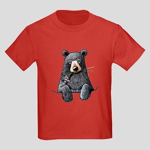 Pocket Black Bear Kids Dark T-Shirt