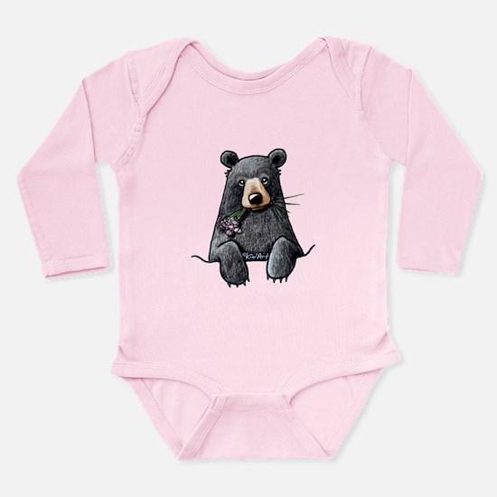 Pocket Black Bear Long Sleeve Infant Bodysuit
