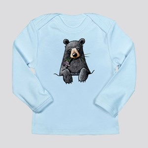 Pocket Black Bear Long Sleeve Infant T-Shirt
