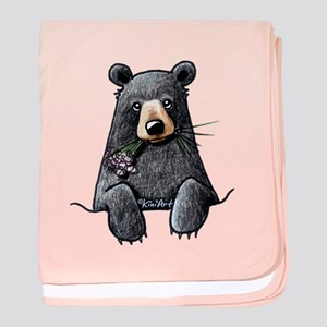 Pocket Black Bear baby blanket