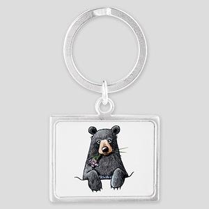 Pocket Black Bear Landscape Keychain