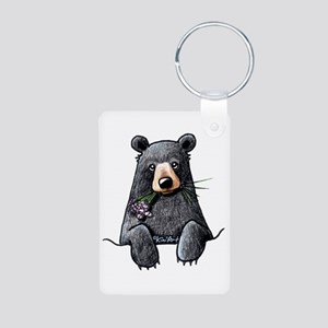 Pocket Black Bear Aluminum Photo Keychain