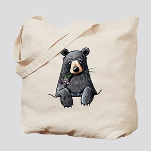 Pocket Black Bear Tote Bag