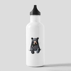 Pocket Black Bear Stainless Water Bottle 1.0L