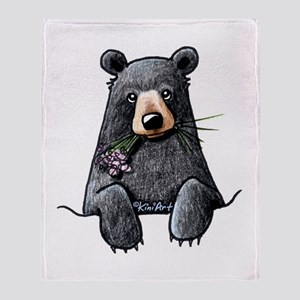Pocket Black Bear Throw Blanket