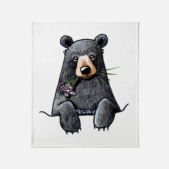 Pocket Black Bear Throw Blanket