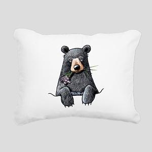 Pocket Black Bear Rectangular Canvas Pillow