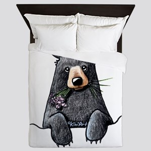 Pocket Black Bear Queen Duvet