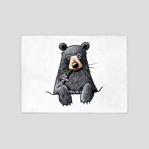 Pocket Black Bear 5'x7'Area Rug