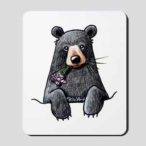 Pocket Black Bear Mousepad