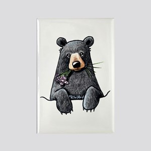 Pocket Black Bear Rectangle Magnet