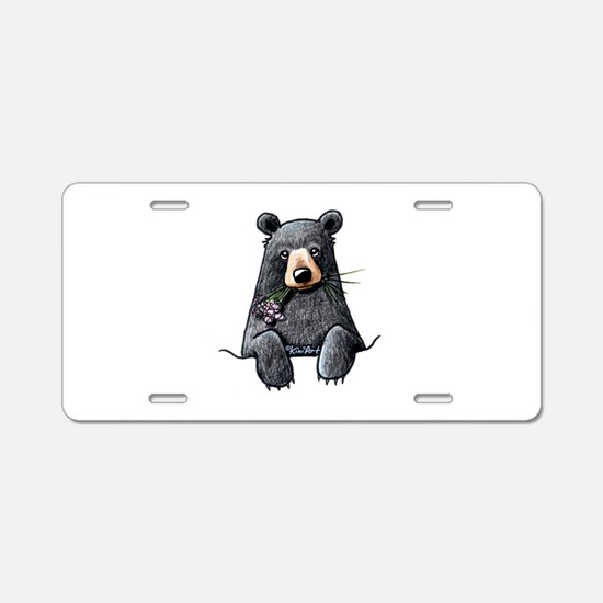 Pocket Black Bear Aluminum License Plate
