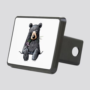 Pocket Black Bear Rectangular Hitch Cover