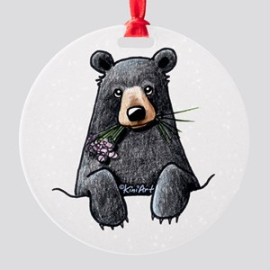 Pocket Black Bear Round Ornament