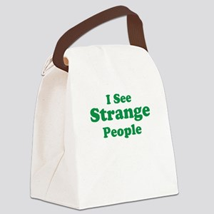 I See (Strange) People Canvas Lunch Bag
