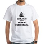 Keep Calm & Carry On (In Shona) T-Shirt (white