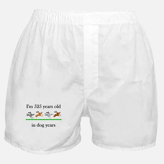 75 dog years birthday 1 Boxer Shorts