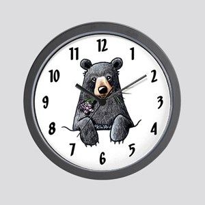 Pocket Black Bear Wall Clock