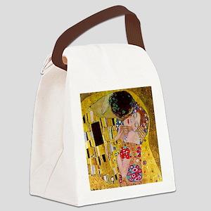 The Kiss detail, Gustav Klimt, Vi Canvas Lunch Bag