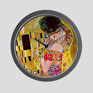 The Kiss detail, Gustav Klimt, Vintage Wall Clock