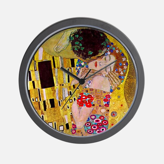 The Kiss detail, Gustav Klimt, Vintage Wall Clock