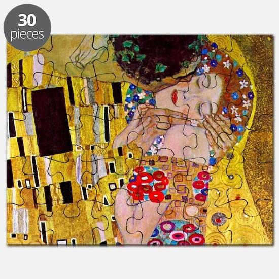 The Kiss detail, Gustav Klimt, Vintage Art Puzzle