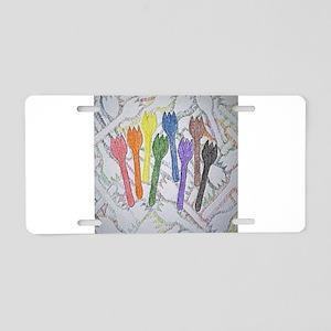 12x12 shapes contour Aluminum License Plate