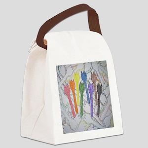 12x12 shapes contour Canvas Lunch Bag