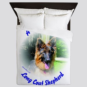 A Proud Male Long Coat Shepherd Queen Duvet