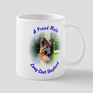 A Proud Male Long Coat Shepherd Mug
