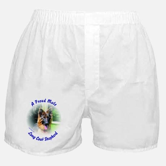 A Proud Male Long Coat Shepherd Boxer Shorts