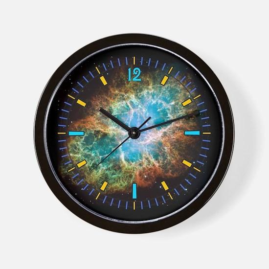 Crab Nebula Astronomy Wall Clock