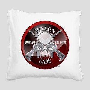 Molon Labe Square Canvas Pillow