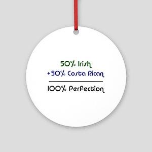Irish & Costa Rican Ornament (Round)