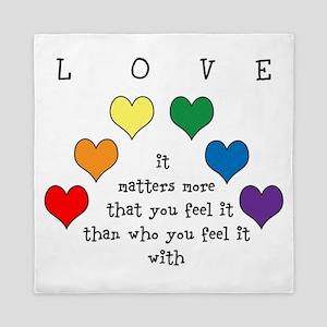 Rainbow Love Queen Duvet