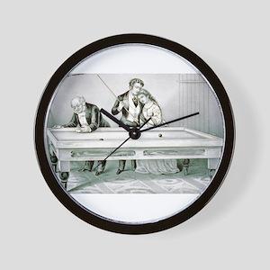 Billards - Froze together - 1874 Wall Clock