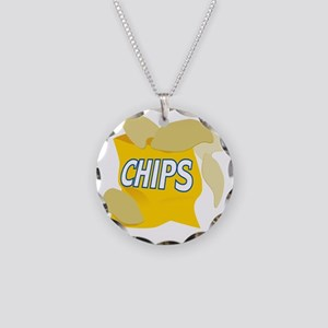 bag of potato chips Necklace Circle Charm