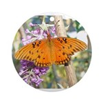 Beautiful Butterfly Print Ornament (Round)