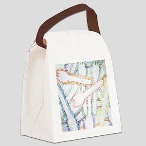 12x12 plastic sporks Canvas Lunch Bag