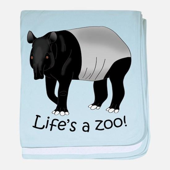 Malayan Tapir baby blanket