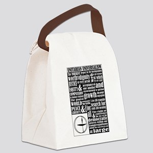 Unitarian Universalist Principles Canvas Lunch Bag